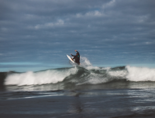 Surfing at Piha
