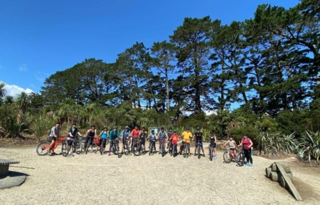 Group of riders from Got To Get Out mountain bike ride